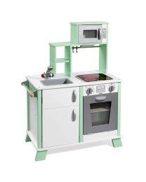 Howa Speelkeuken hout met LED kookplaat groen / wit 48203