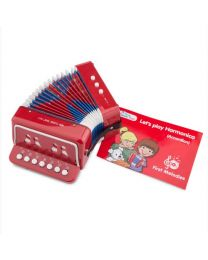 New Classic Toys Speelgoed Accordeon Rood met Muziekboekje 10055