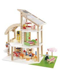 Howa Poppenhuis strandvilla 7014 incl. 30-dlg. set aan meubels en poppen!