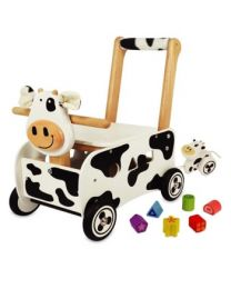 I'm Toy Loop- en Sorteerwagen Koe 1750100