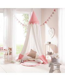 Howa klamboe, hemel of speeltent voor kinderen Bella incl. vloermat rose/wit 8505
