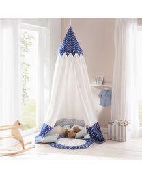 Howa klamboe, hemel of speeltent voor kinderen Ben incl. vloermat blauw/wit 8504