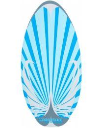 Waimea Skimboard Flatland hout 104 x 50 x 0,8 cm blauw