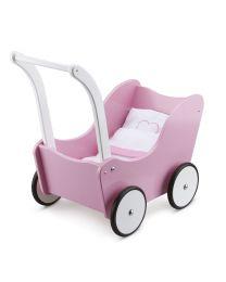 new classic toys poppenwagen met beddengoed roze 10751