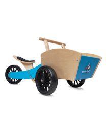 Kinderfeets houten bakfiets de Cargotrike blauw 24611