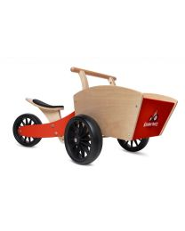 Kinderfeets houten bakfiets de Cargotrike rood 24617
